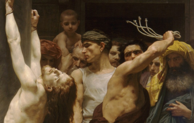 16. The Flagellation of Our Lord Jesus Christ (1880) William-Adolphe Bouguereau detail 1.jpg